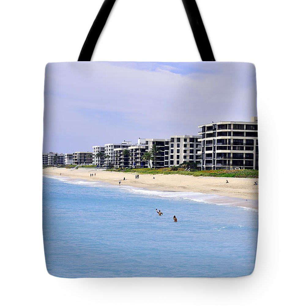 Beach Tote Bag featuring the photograph Pick A Condo by Maria Keady