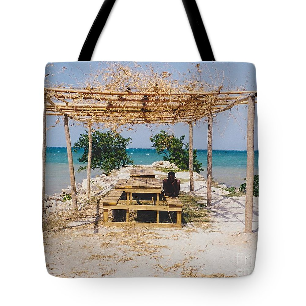 Water Tote Bag featuring the photograph Pick-nick At The Sea by Michelle Powell