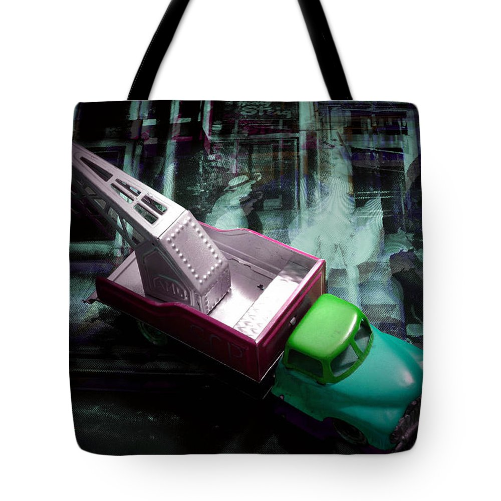 Marilyn Tote Bag featuring the photograph Pick Up On Marilyn by Charles Stuart