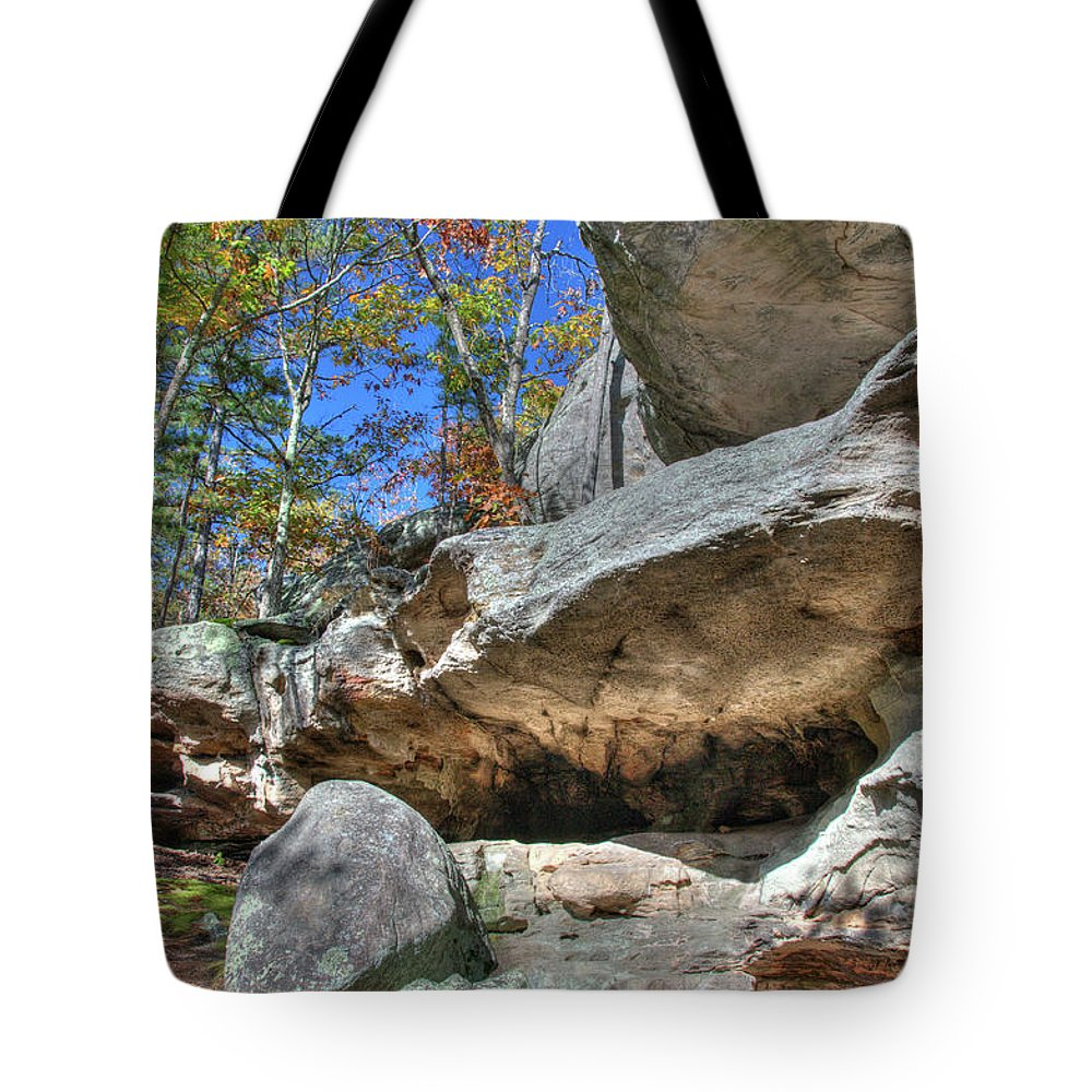 Missouri Tote Bag featuring the photograph Pickle Spring Sandstone by Steve Stuller