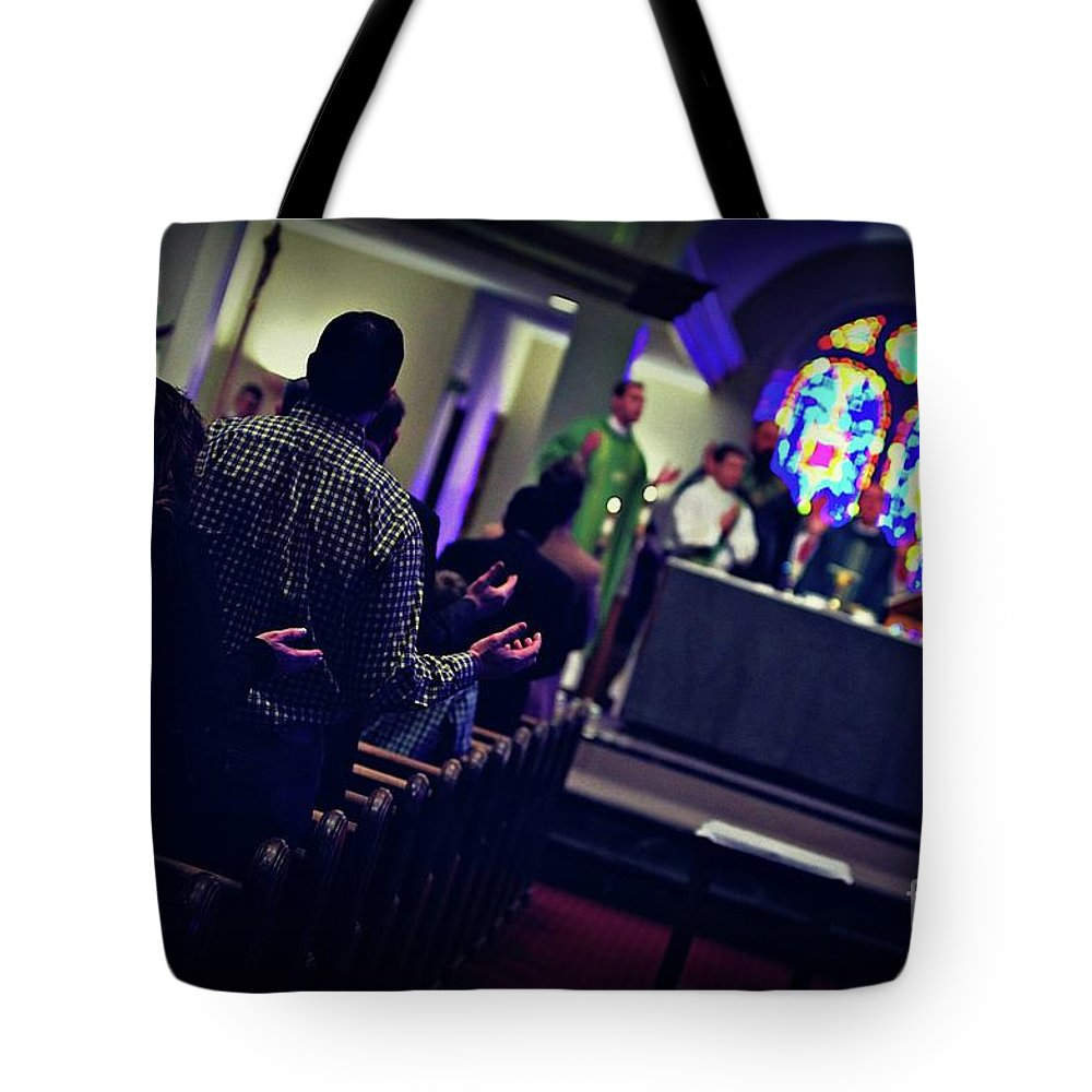 Our Father Tote Bag featuring the photograph Picture Of Faith by Frank J Casella