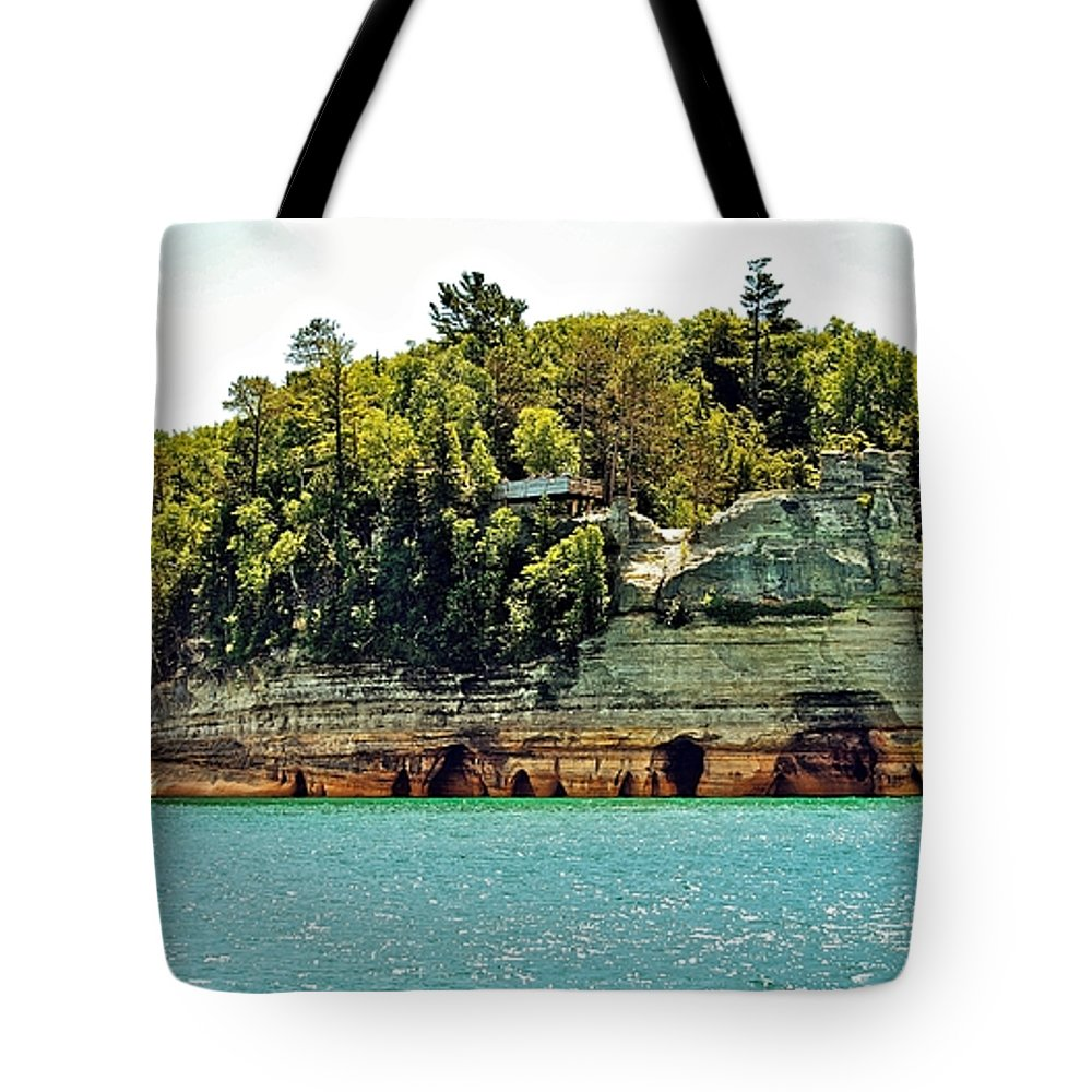 Landscape Tote Bag featuring the photograph Pictured Rock 6323 by Michael Peychich
