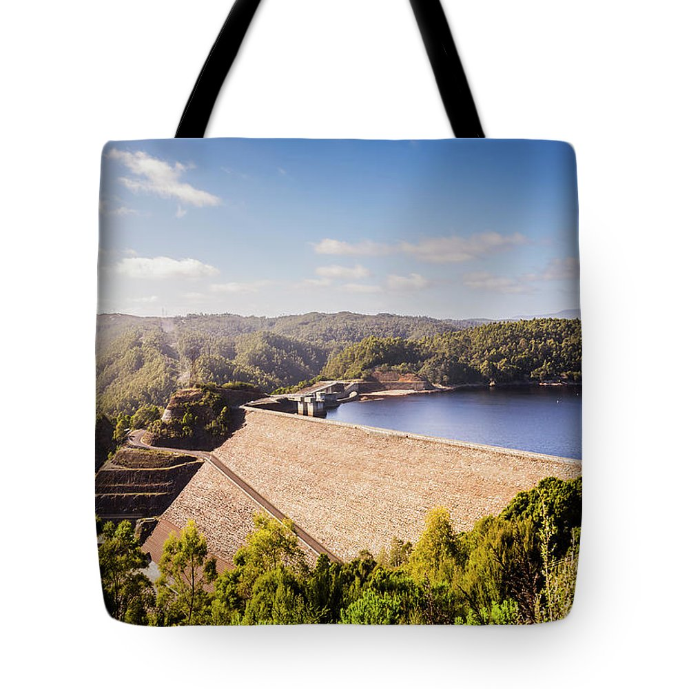 Dam Tote Bag featuring the photograph Picturesque Hydroelectric Dam by Jorgo Photography - Wall Art Gallery