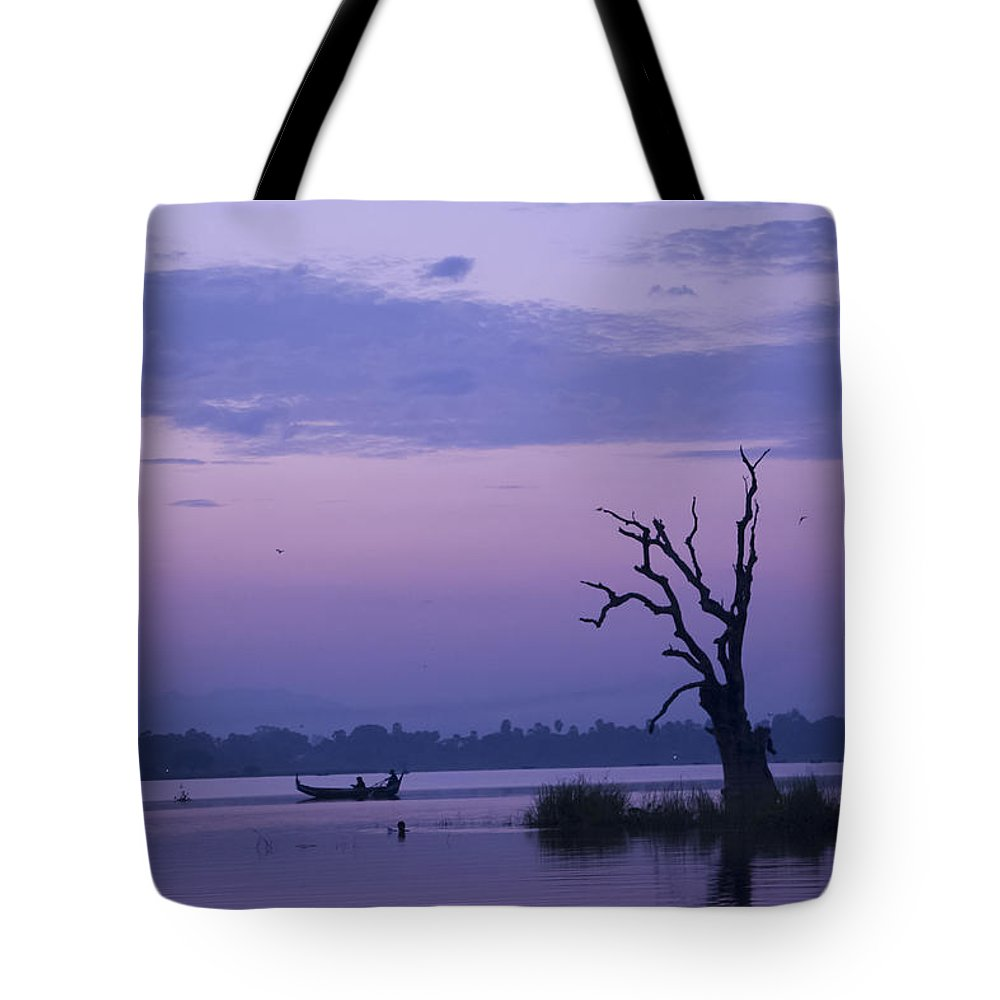 Tranquility By Valerie Trot Tote Bag featuring the photograph Tranquility by Valeria New