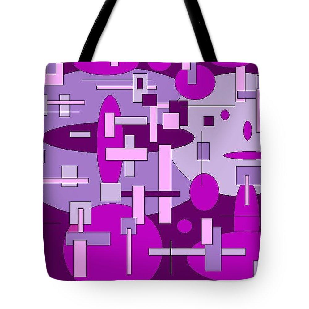 Digital Artwork Tote Bag featuring the digital art Piddly by Jordana Sands