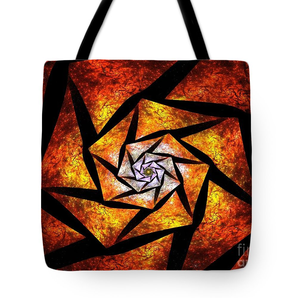 Piece Tote Bag featuring the digital art Piece By Piece by Steve K