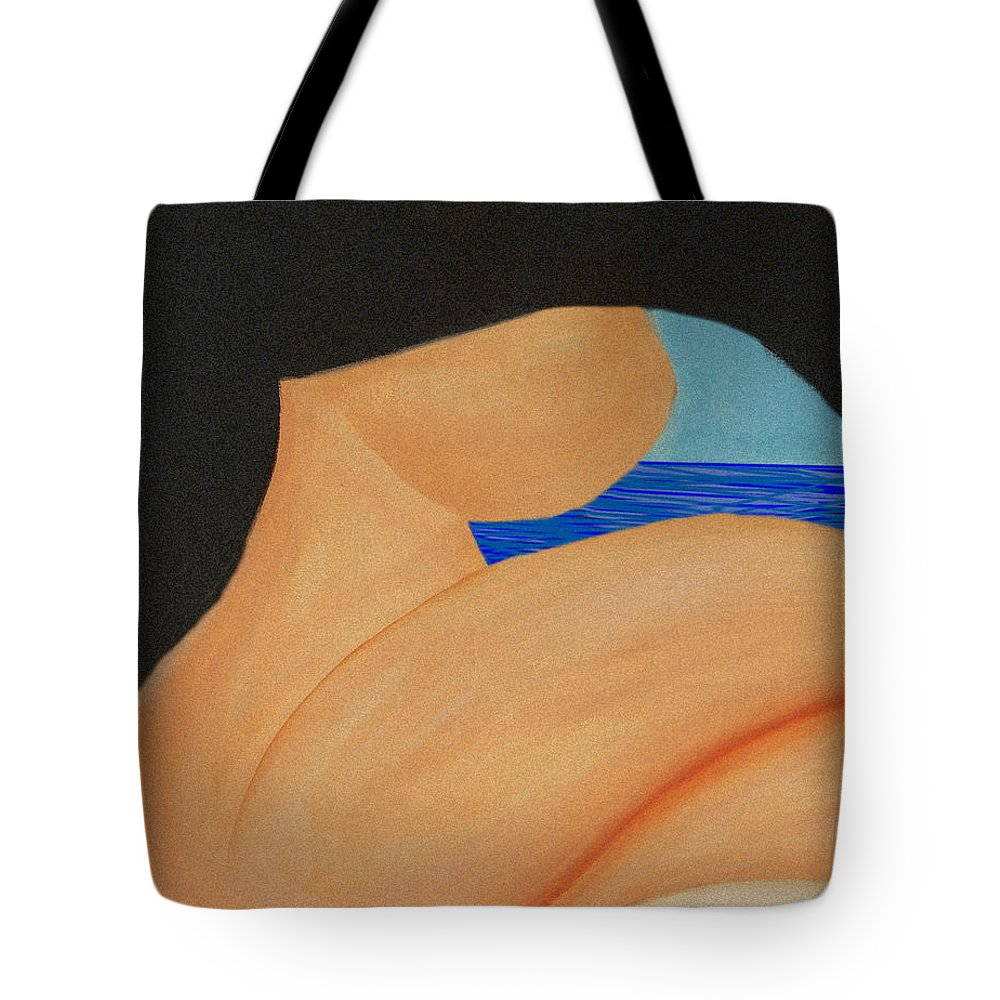 Beaches Tote Bag featuring the painting Piel morena en Varadero by Jorge Delara
