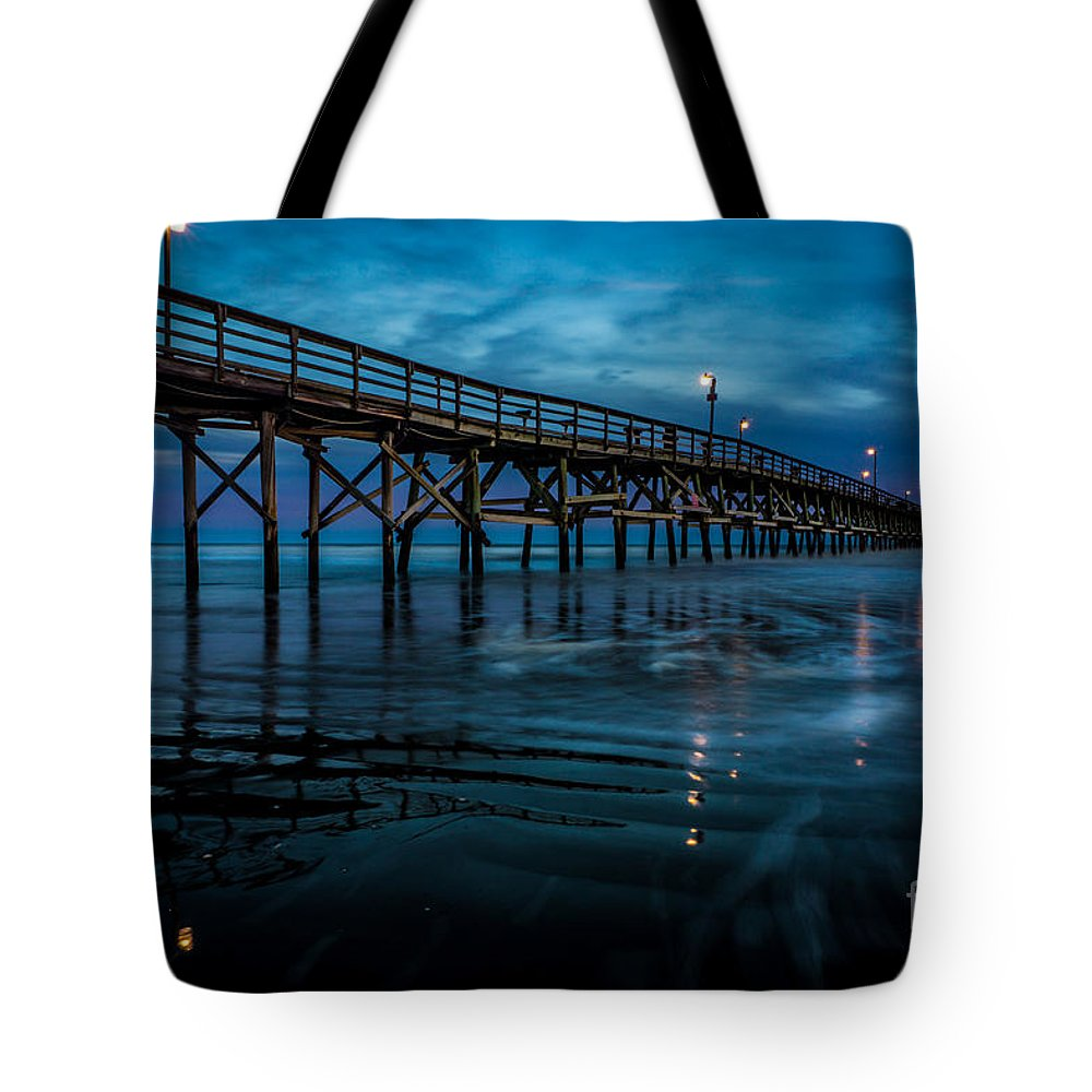 Pier Tote Bag featuring the photograph Pier At Dusk by David Smith