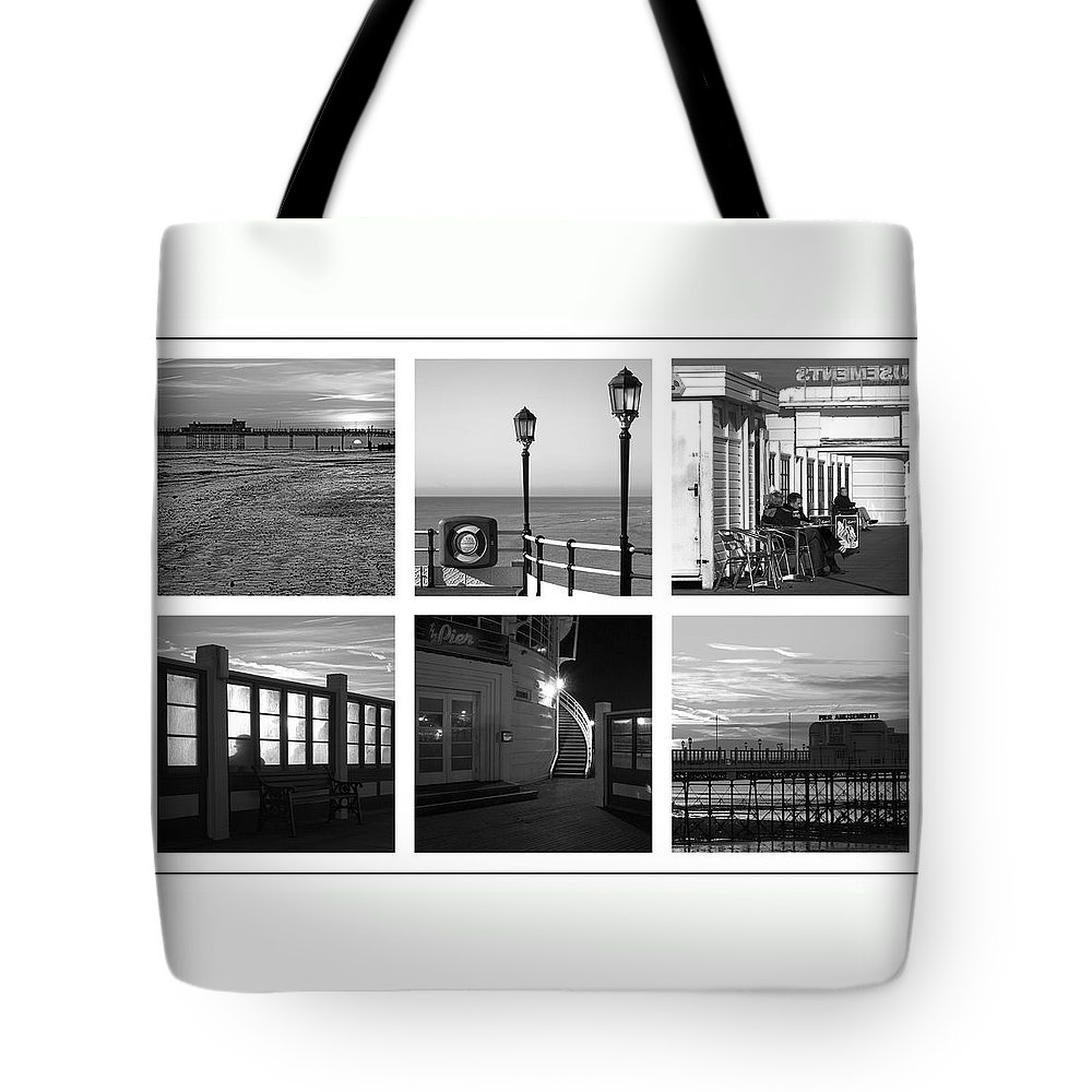 Pier Tote Bag featuring the photograph Pier Moods by Hazy Apple