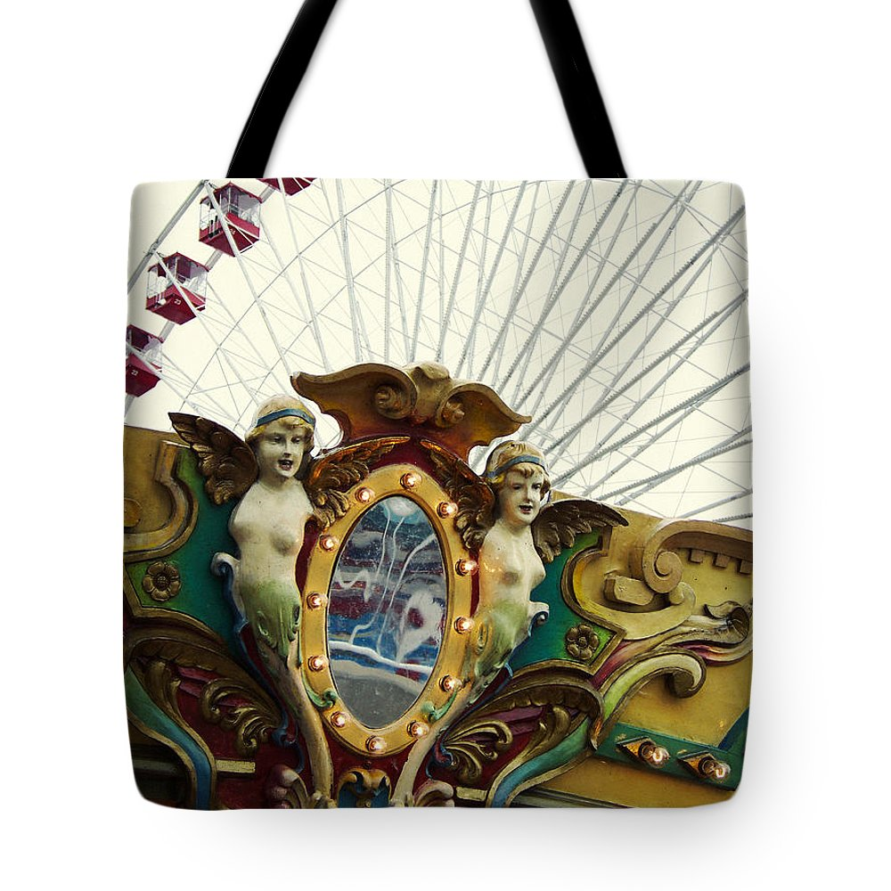 Navy Pier Tote Bag featuring the photograph Pier Park Chicago by Kyle Hanson