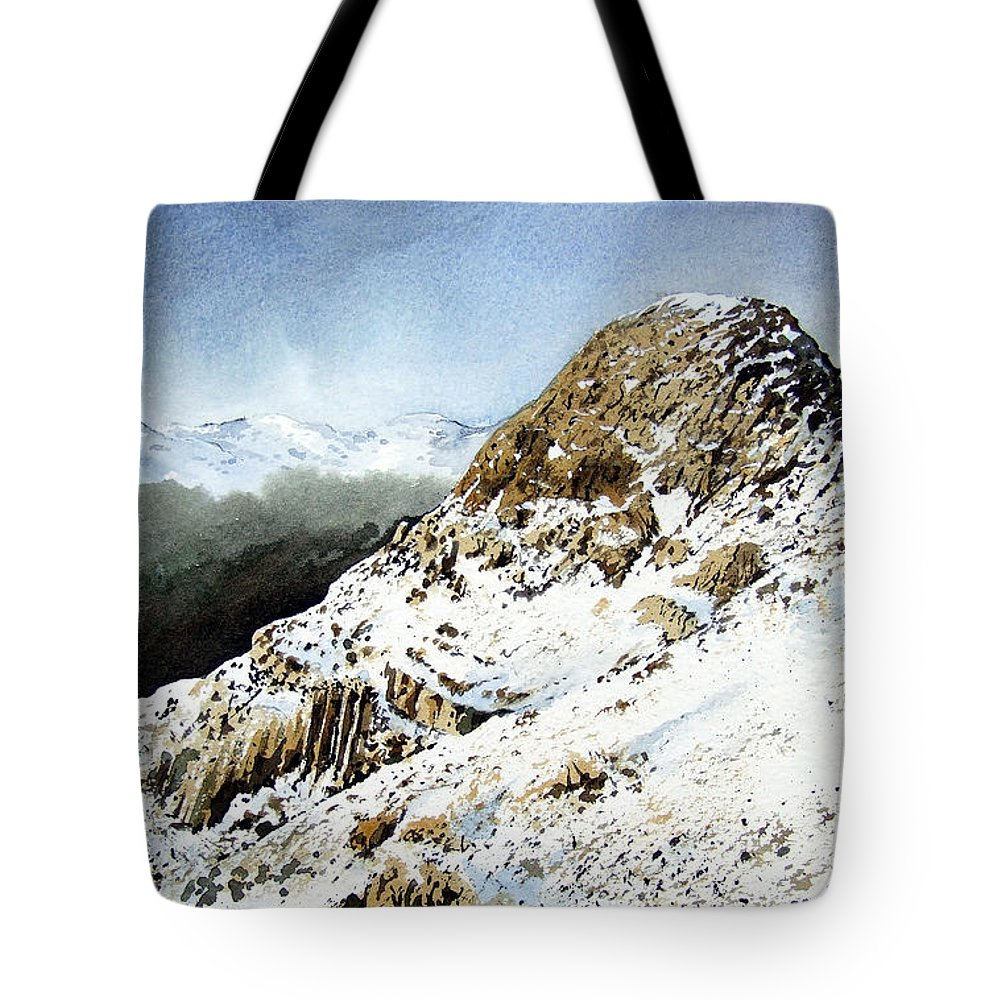 Pike O' Stickle Tote Bag featuring the painting Pike O' Stickle by Paul Dene Marlor