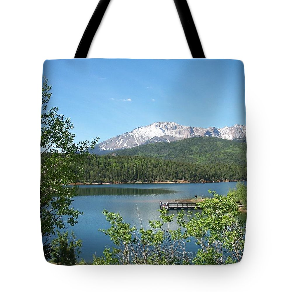 Colorado Tote Bag featuring the photograph Pike's Peak by Anita Burgermeister