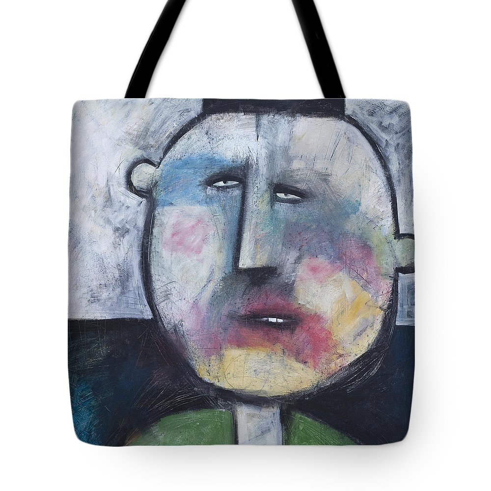 Funny Tote Bag featuring the painting Pillbox by Tim Nyberg