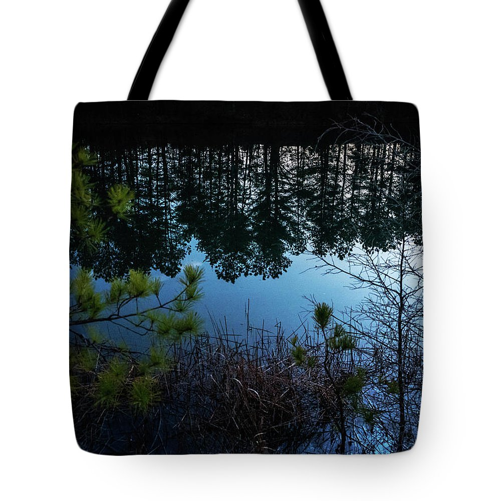 Tote Bag featuring the photograph Pine Barren Reflections by Louis Dallara