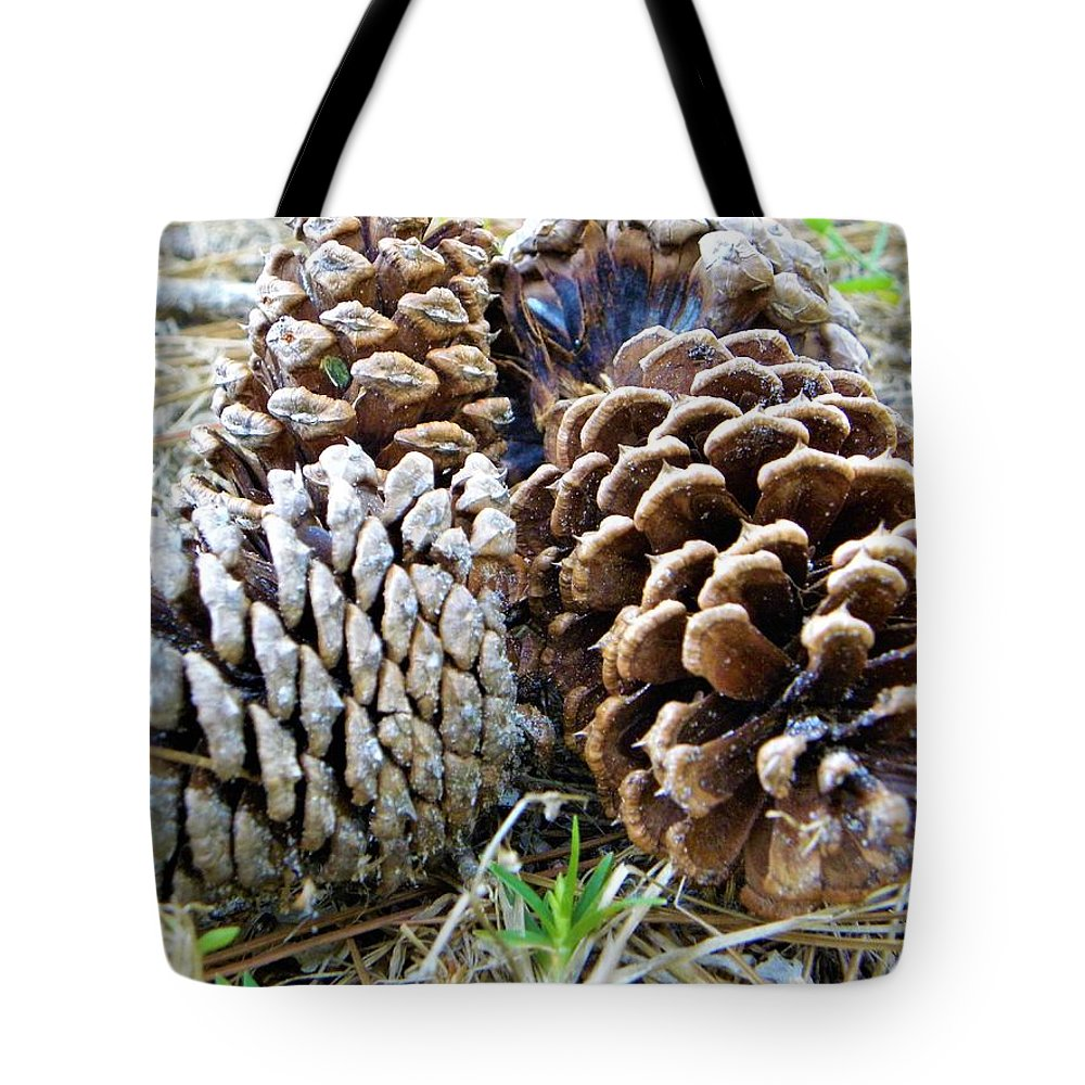 Pine Cones Tote Bag featuring the photograph Pine Cones by Ric Schafer
