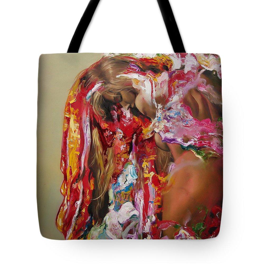 Ignatenko Tote Bag featuring the painting Pine by Sergey Ignatenko