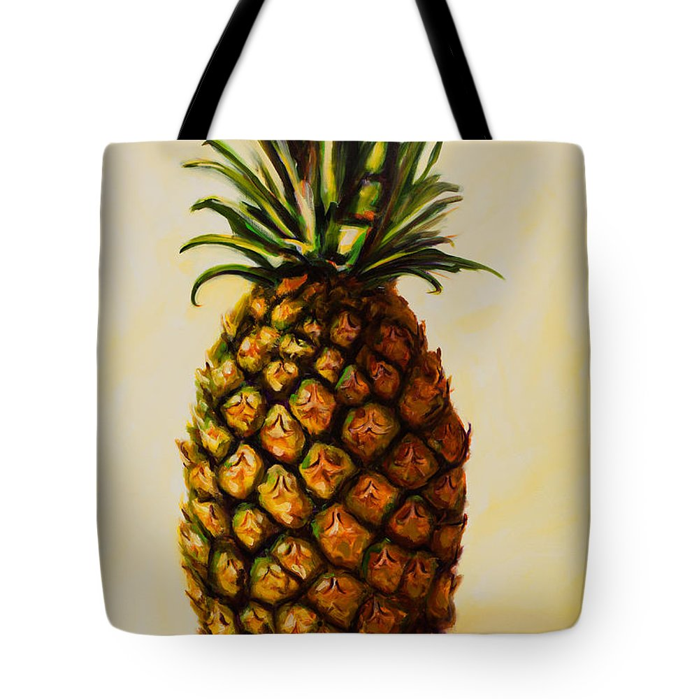 Pineapple Tote Bag featuring the painting Pineapple Angel by Shannon Grissom