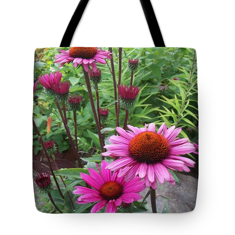 Flowers Tote Bag featuring the photograph Pink All Over by Anita Burgermeister