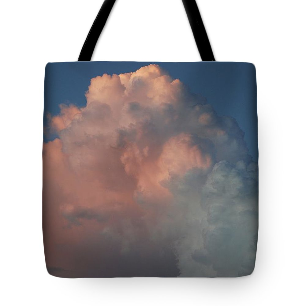 Clouds Tote Bag featuring the photograph Pink And Grey by Rob Hans