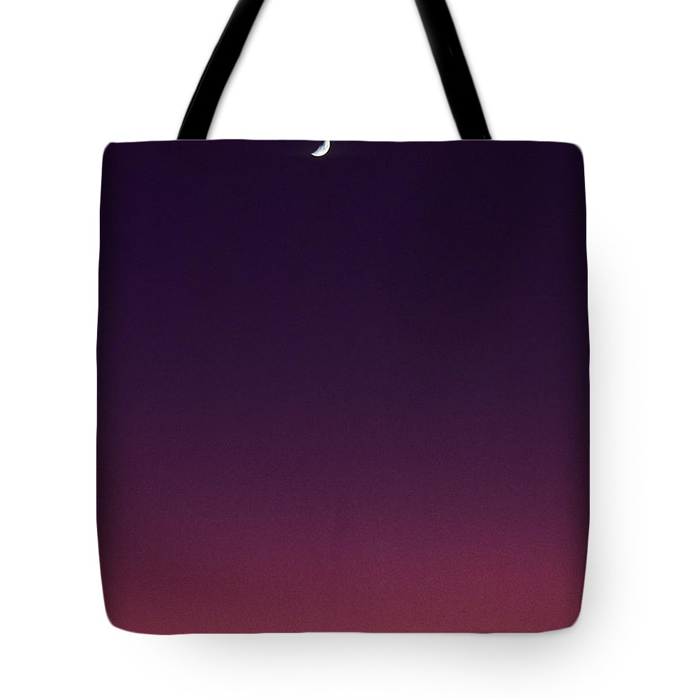 Above Tote Bag featuring the photograph Pink And Purple Sunset by Carl Shaneff - Printscapes