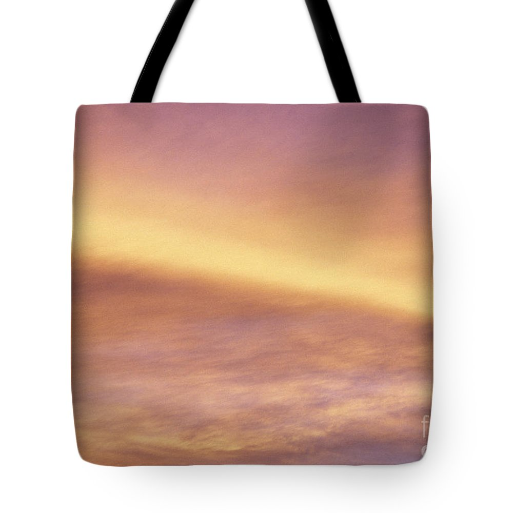 Air Tote Bag featuring the photograph Pink And Yellow Sky by Carl Shaneff - Printscapes