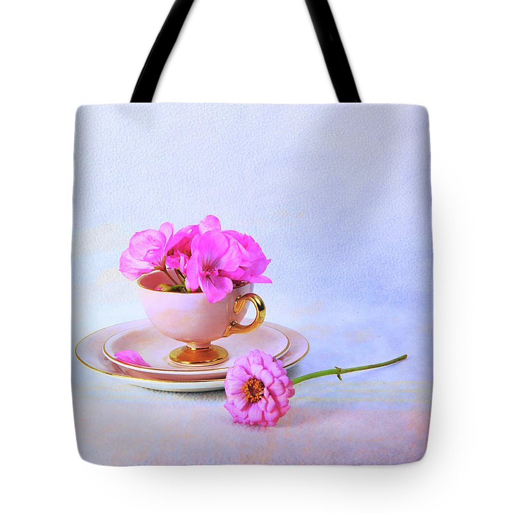 Rose Tote Bag featuring the photograph Pink Attitude by Randi Grace Nilsberg