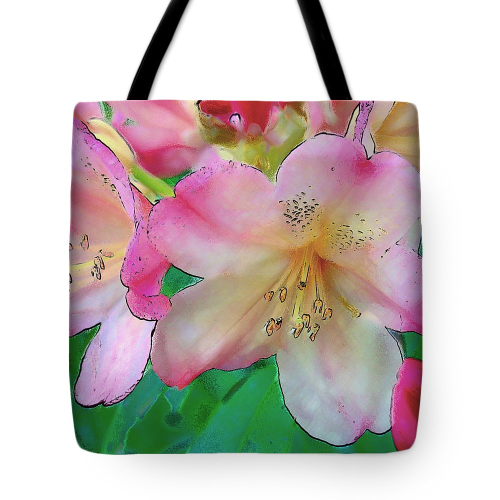 Ebsq Tote Bag featuring the photograph Pink Azalea by Dee Flouton