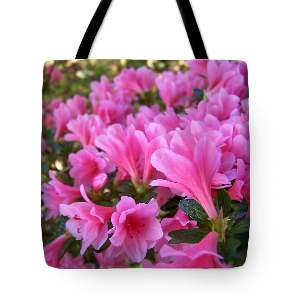 Pink Tote Bag featuring the photograph Pink Azaleas II by Jai Johnson