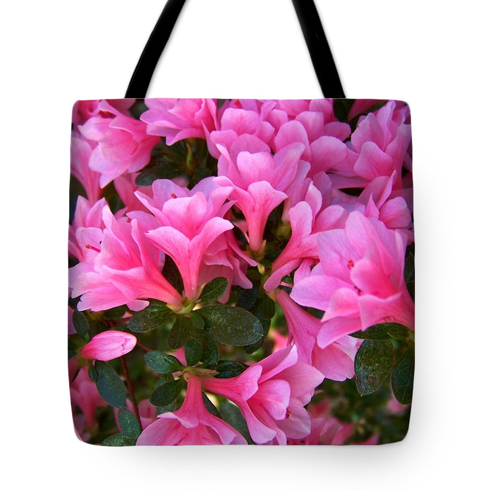 Pink Tote Bag featuring the photograph Pink Azaleas Iv by Jai Johnson