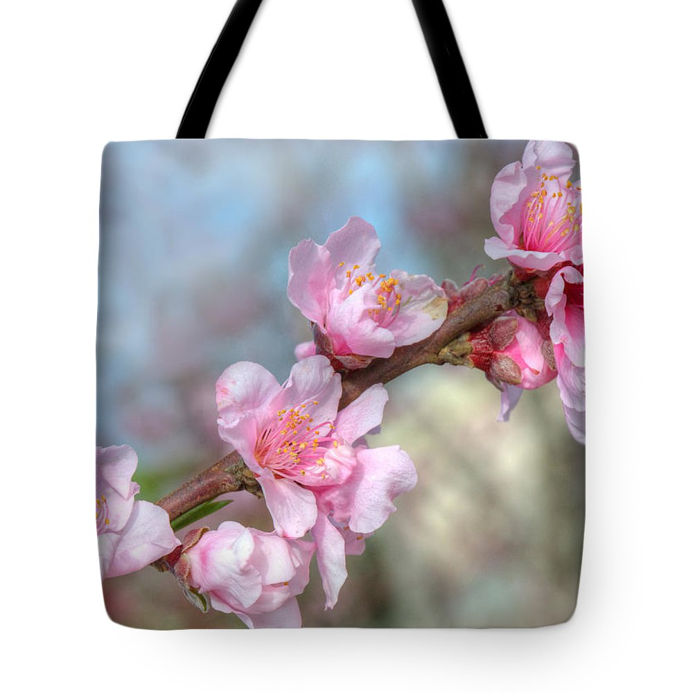 Central Valley Tote Bag featuring the photograph Pink Blossoms by Joan Baker