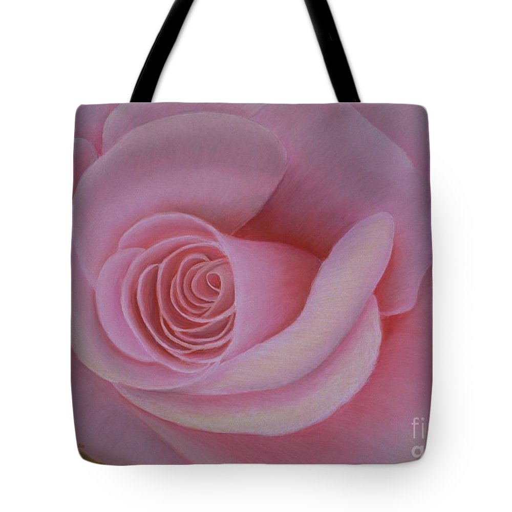 Rose Tote Bag featuring the painting Pink Blush by Mary Erbert