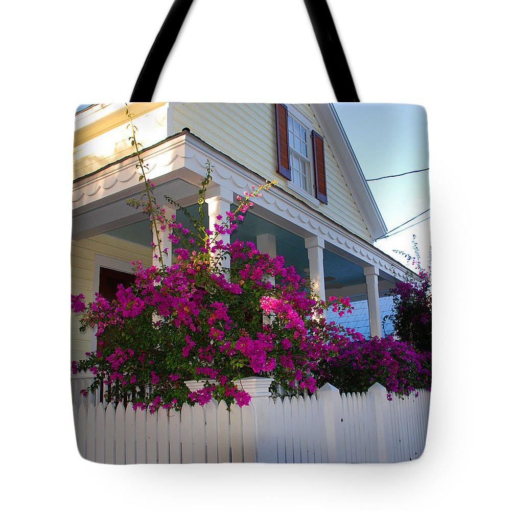 Flowers Tote Bag featuring the photograph Pink Bougainvilleas by Susanne Van Hulst