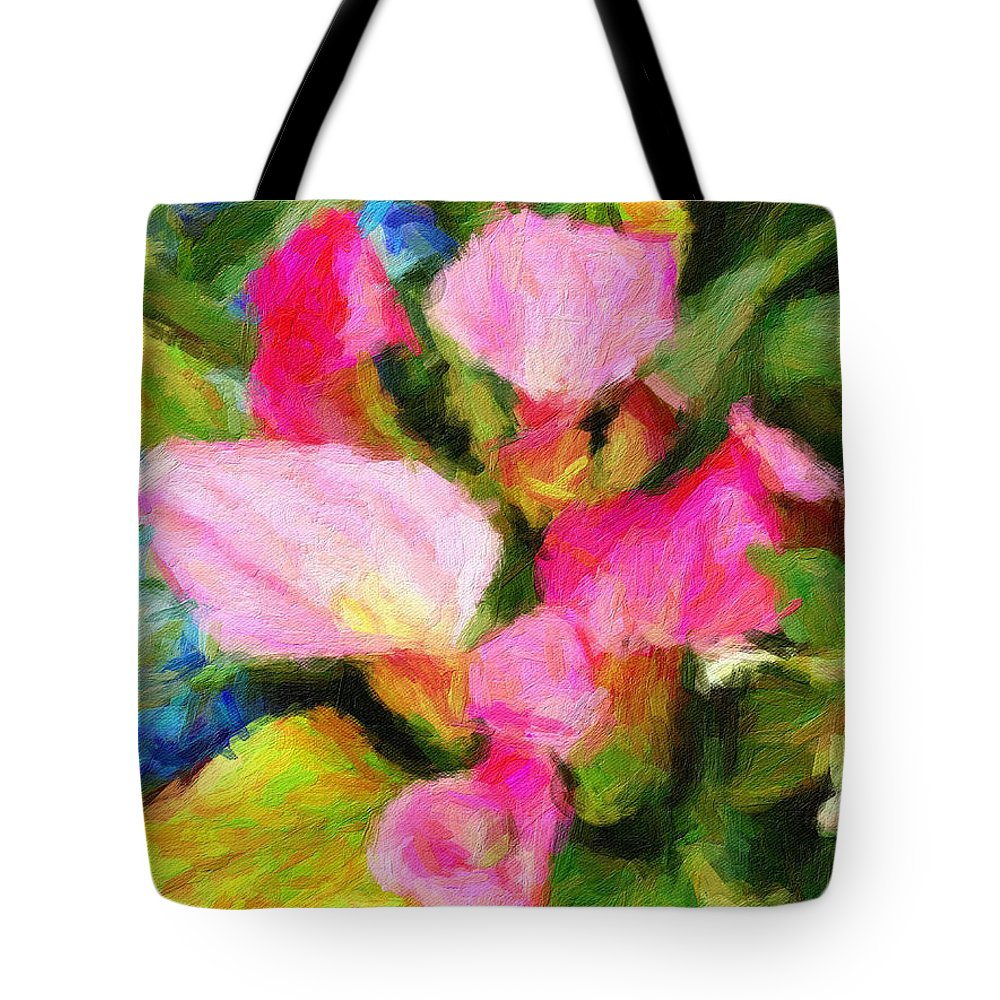 Flowers Tote Bag featuring the digital art Pink Calla Lilly by Sarah West