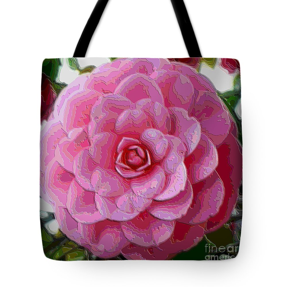 Pink Flower Tote Bag featuring the photograph Pink Camellia Dream by Carol Groenen