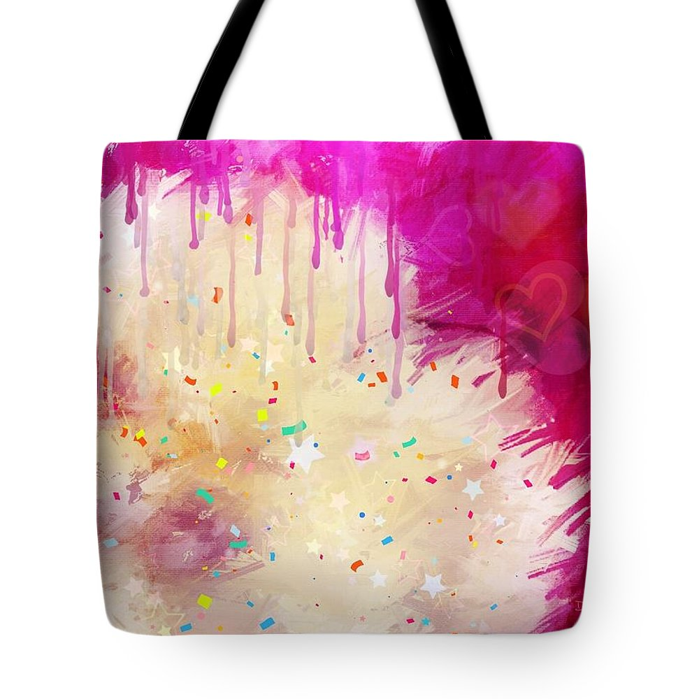 Pink Tote Bag featuring the photograph Pink Celebration by Diane Lindon Coy