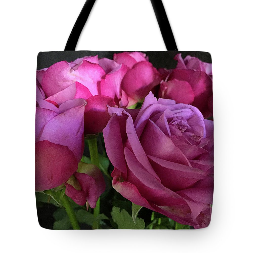 Pink Tote Bag featuring the photograph Pink Chiffon by Sarah Vernon