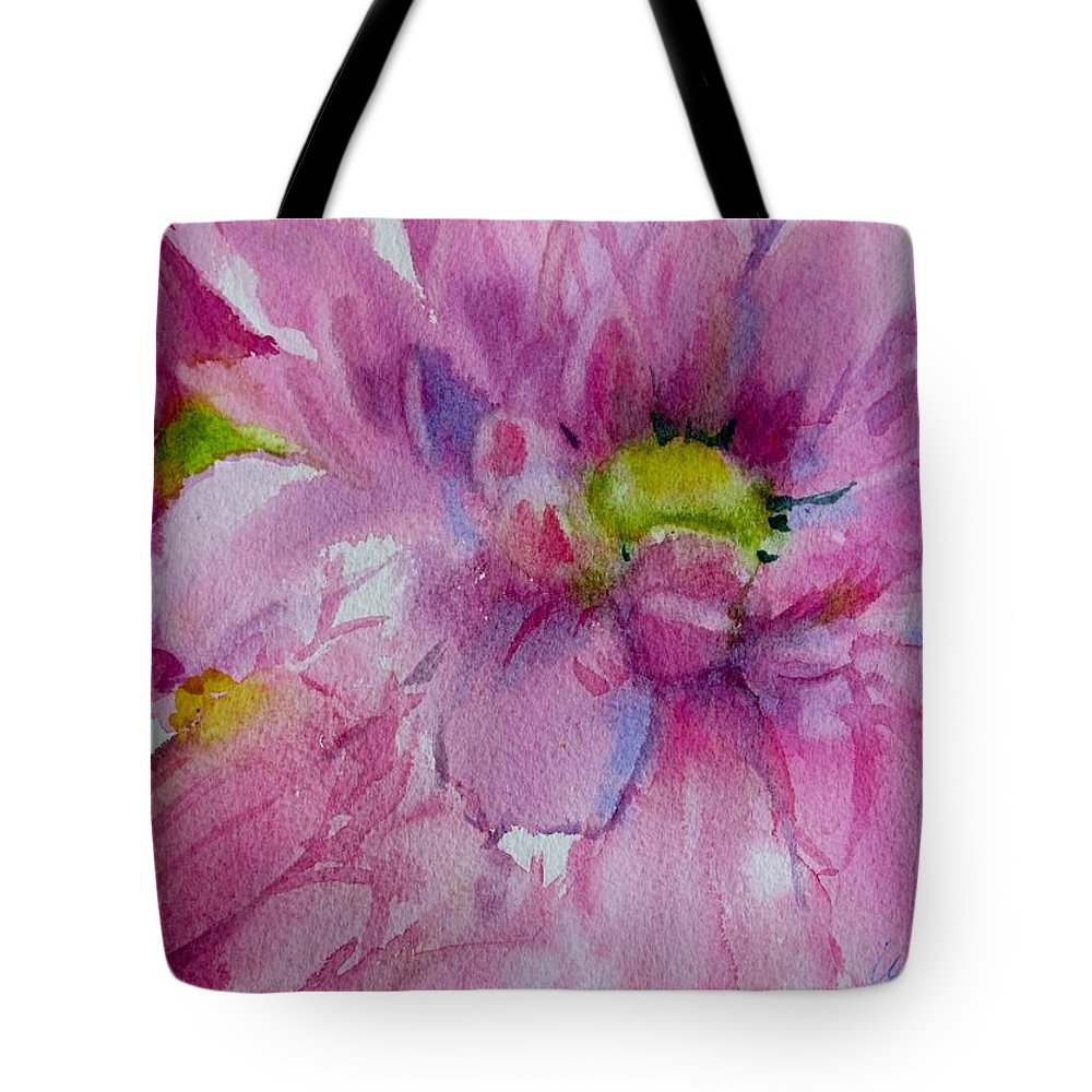 Daisy Pink Flower Tote Bag featuring the painting Pink Daisy by Linda Emerson
