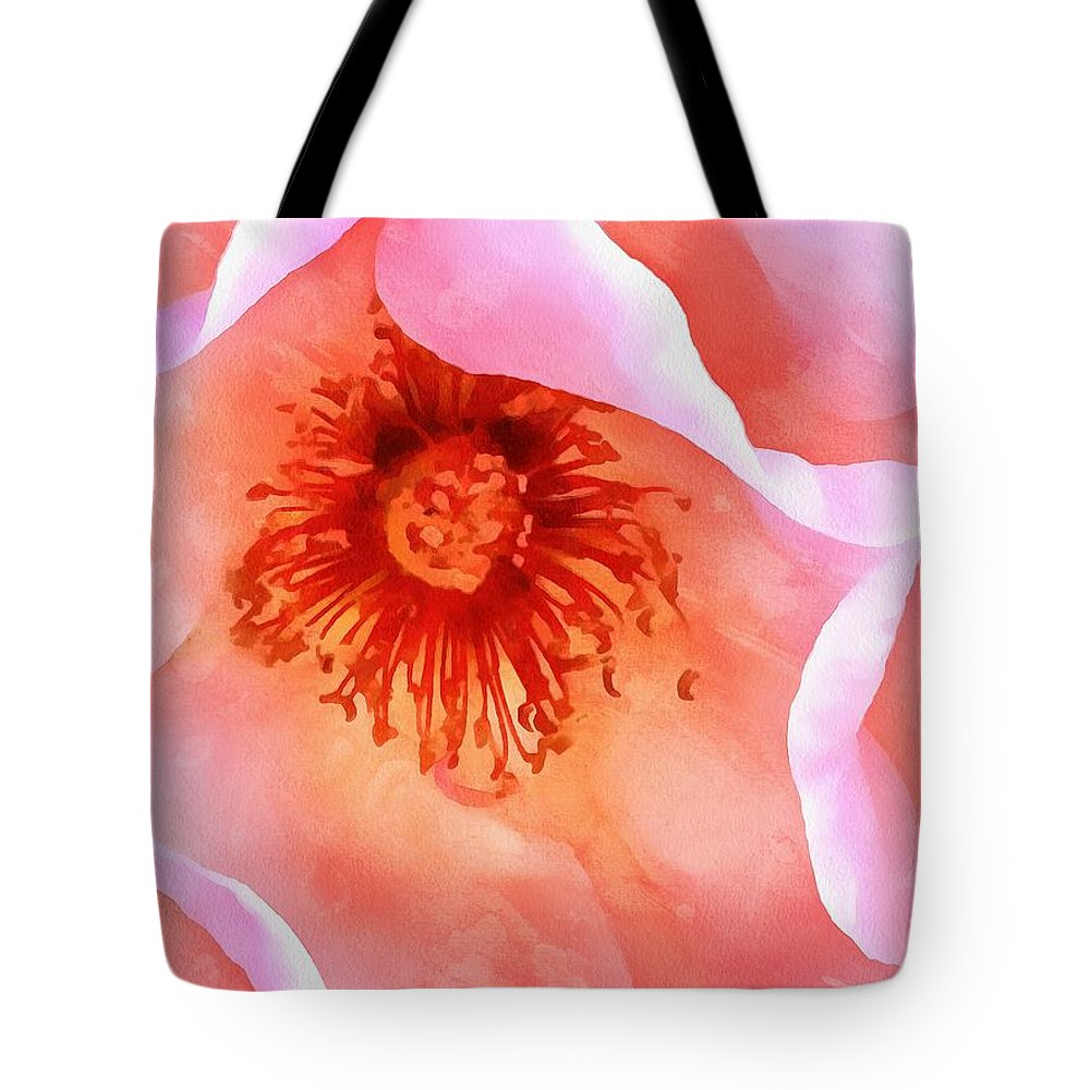 Pink Rose Tote Bag featuring the photograph Pink Devotion by Krissy Katsimbras