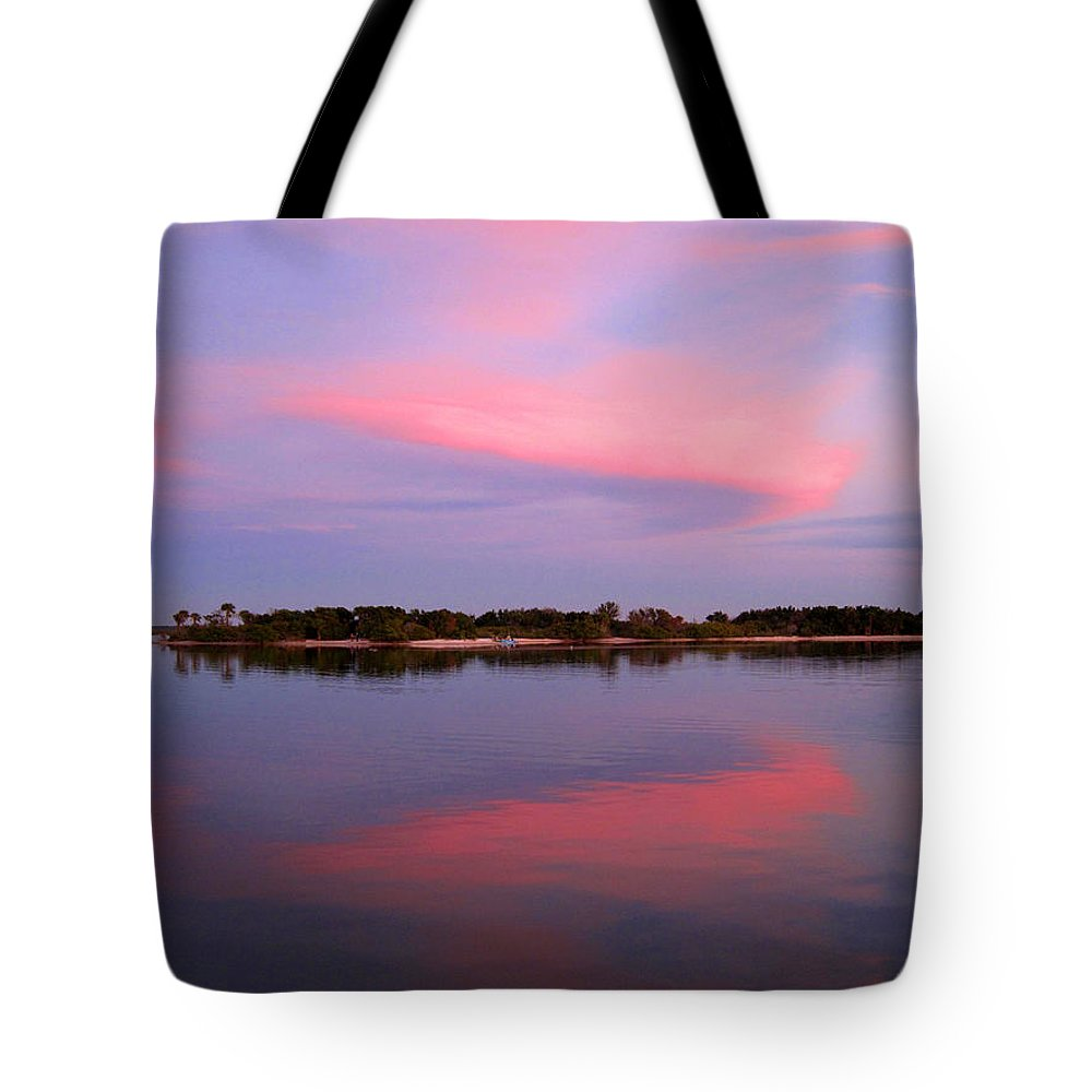 Sunset Tote Bag featuring the photograph Pink Evening by Susanne Van Hulst