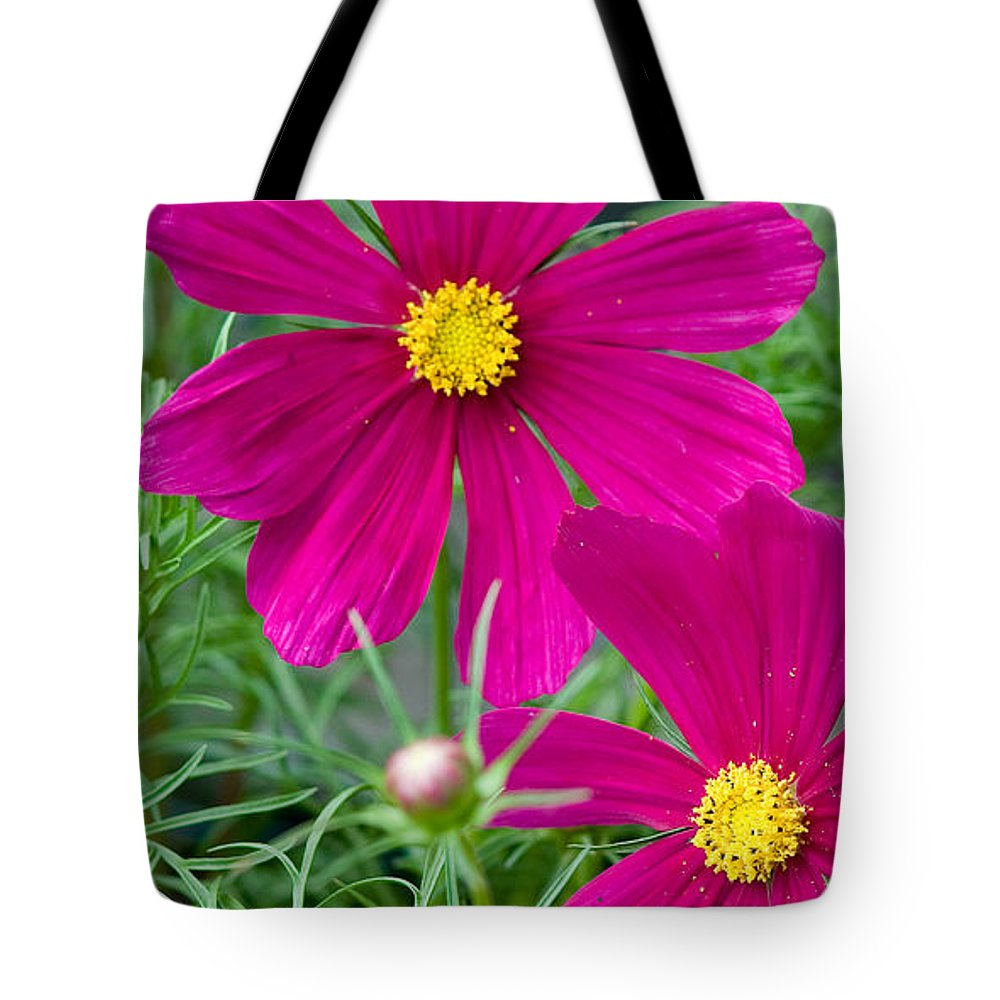 Pink Tote Bag featuring the photograph Pink Flower by Michael Bessler