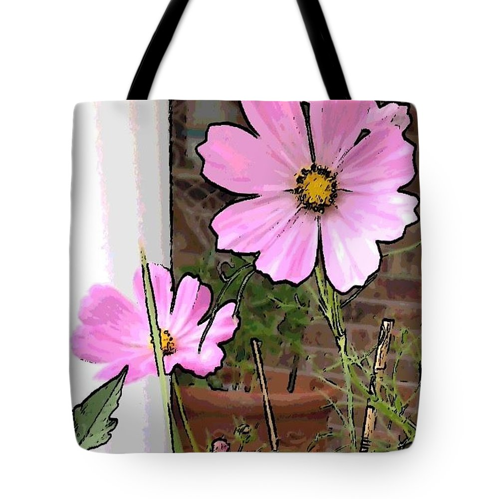 Flowers Pink Tote Bag featuring the photograph Pink Flowers Of Summer by Deb Schneider