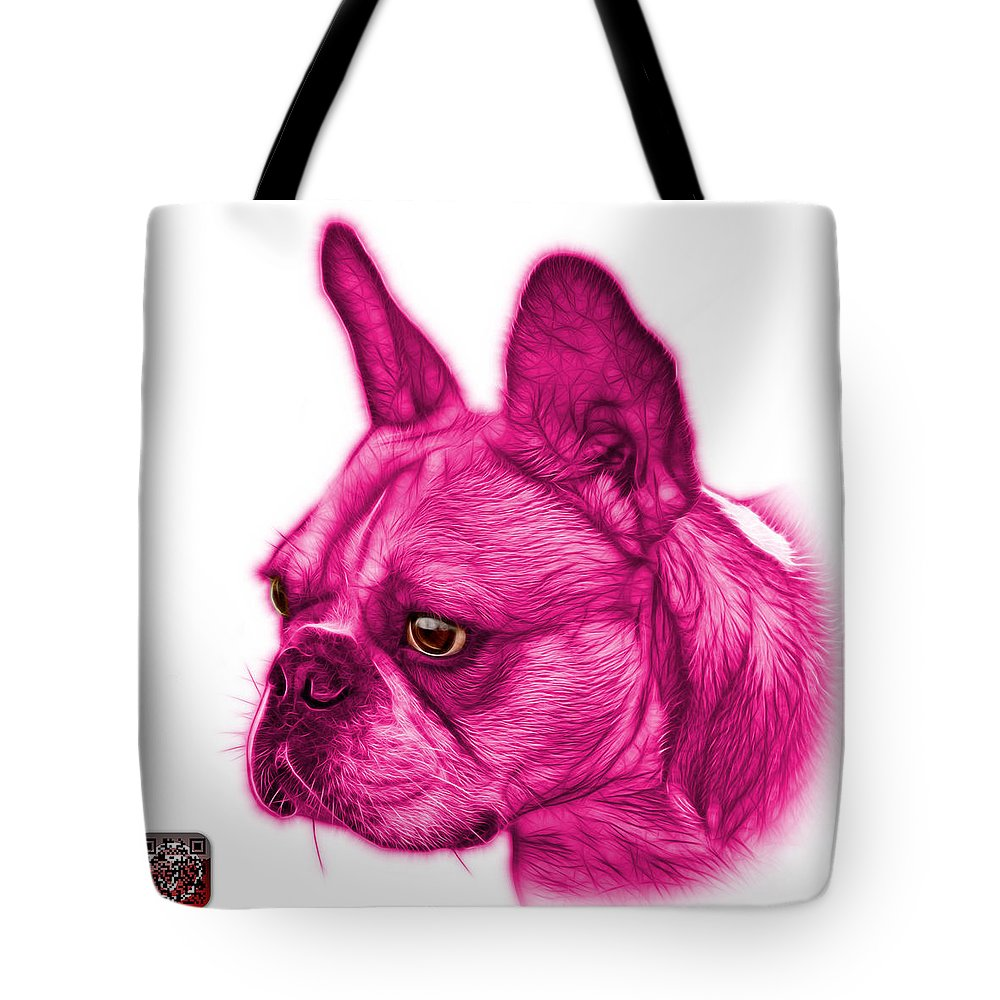 French Bulldog Tote Bag featuring the painting Pink French Bulldog Pop Art - 0755 Wb by James Ahn