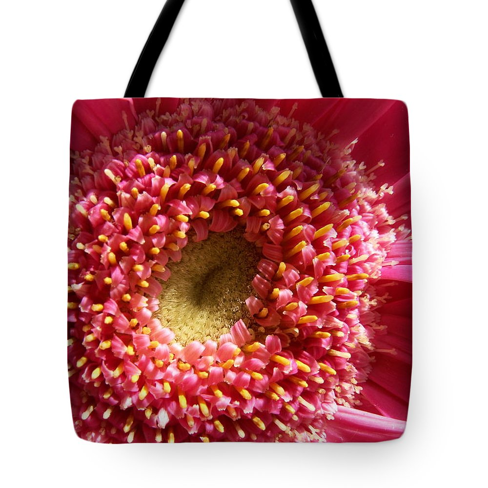 Pink Tote Bag featuring the photograph Pink Gerbera Daisy by Amy Fose