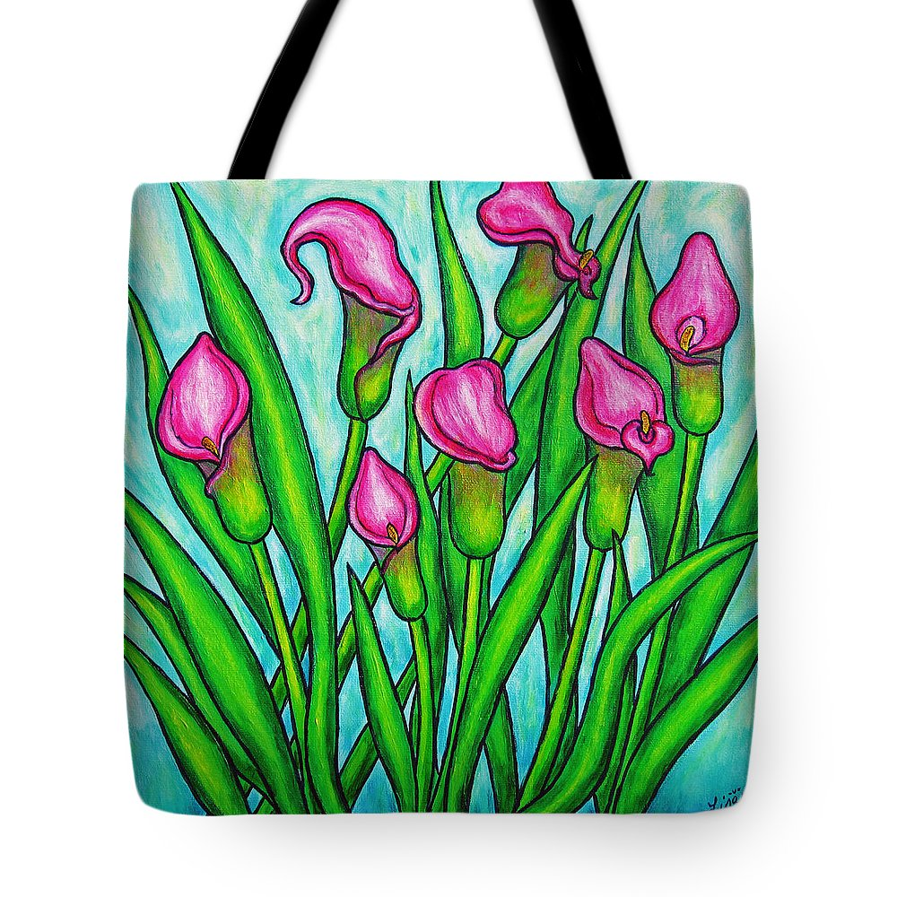 Lisa Lorenz Tote Bag featuring the painting Pink Ladies by Lisa Lorenz