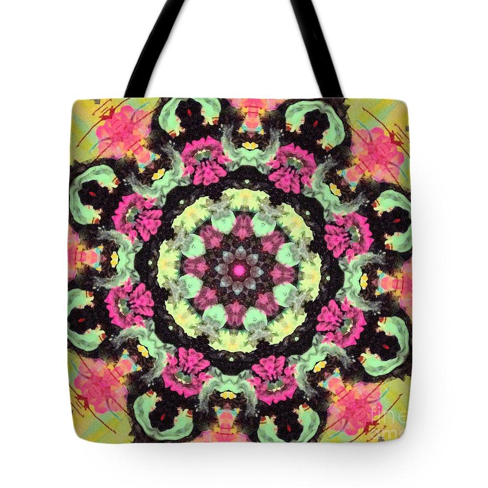 Gorgeous Tote Bag featuring the digital art Pink Lemonade by Sandra Gallegos