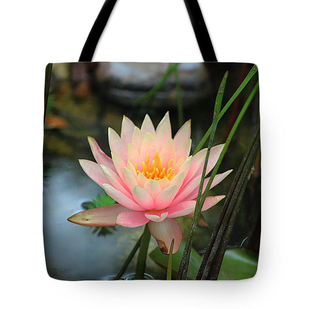 Pink Tote Bag featuring the photograph Pink Lily by Barbara Yerby