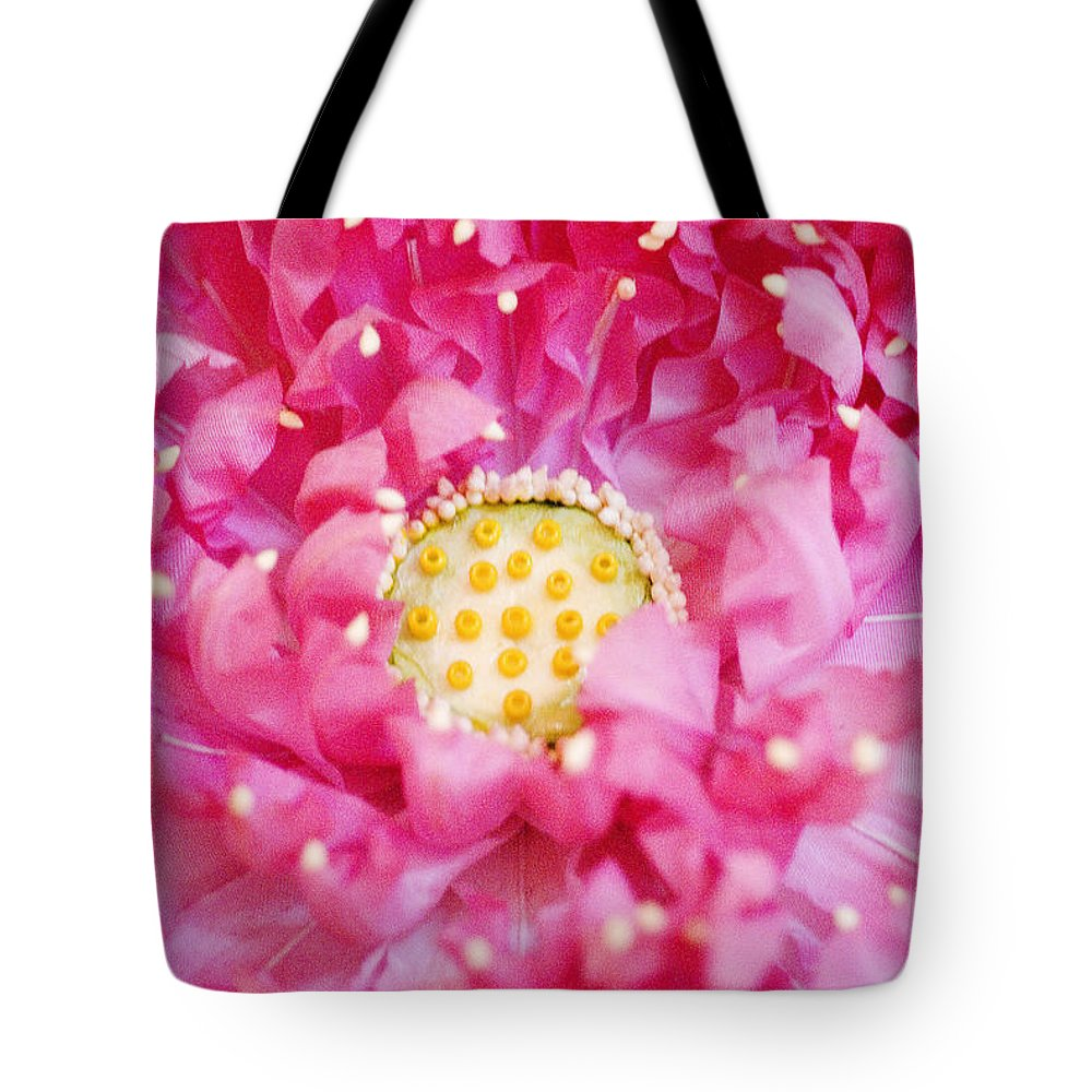 Bangkok Tote Bag featuring the photograph Pink Lotus by Ray Laskowitz - Printscapes