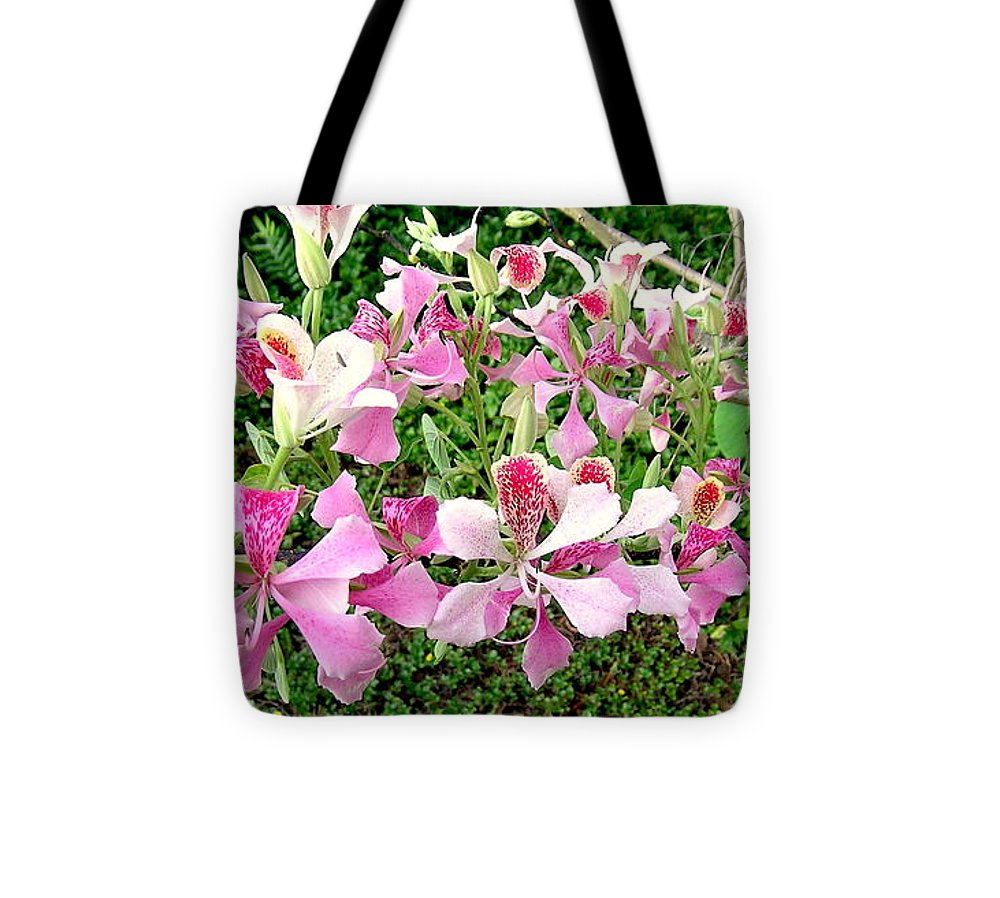Pink Orchid Tree Tote Bag featuring the photograph Pink Orchid Tree by James Temple