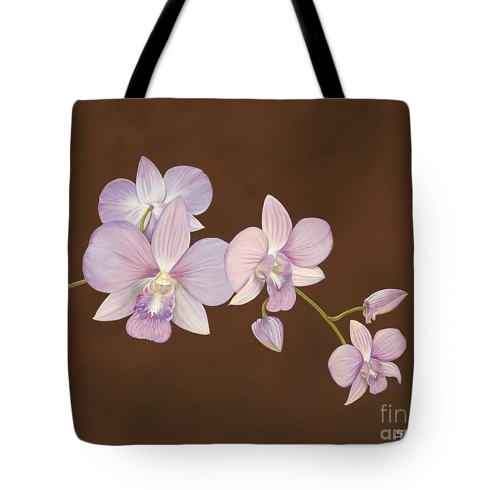 Orchid Tote Bag featuring the painting Pink Orchids by Shawn Stallings