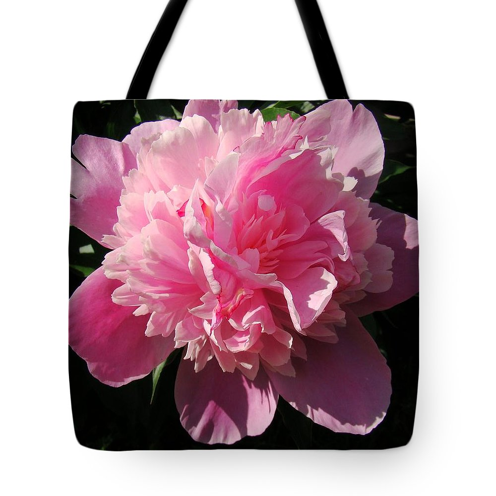 Flowers Tote Bag featuring the photograph Pink Peony by Sandy Keeton